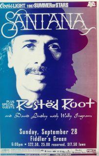 Root 1997 Denver Concert Tour Poster Blues Rock Latin Rock