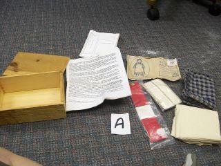 Century American Rag Doll Kit w Laura Ingalls Story J Fields
