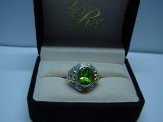 Laura Ramsey Peridot Diamond Ring