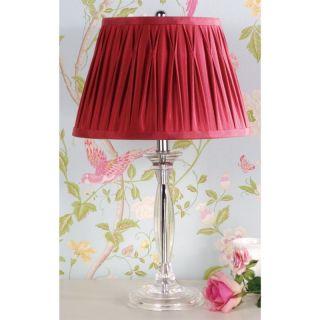 Lamp Chrome and Clear Acrylic Base Silk Fabric Laura Ashley