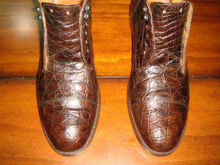 RARE $2 000 Polo by Ralph Lauren Alligator Crocodile Oxford Boot Dress