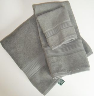 Ralph Lauren Regent Bath Towels 8 Piece Set Hand Wash Cloth Charcoal