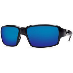 Costa Del Mar Peninsula Black Blue Mirror 400G Sunglasses