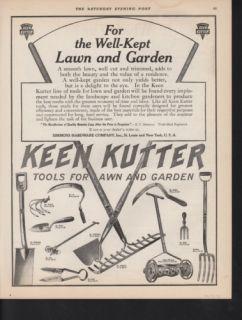 1912 Keen Kutter Garden Tool Rake Lawn Mower Grass Yard