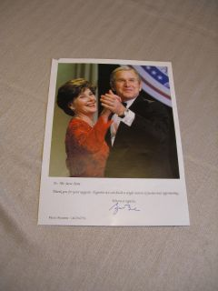 President George W Bush And Laura Autopen Signature Photograph Dancing