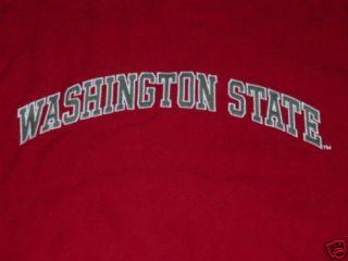 WSU Washington State Cougars Crew Sweatshirt NWT Large