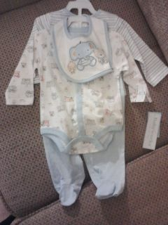 Layette 4 Piece Set for Baby Boy 3   6 Months NEW Baby Shower Gift