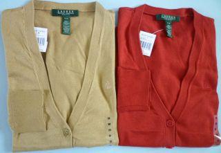 Lauren Ralph Lauren Women Cotton Cardigan Various Petite Sizes Colors