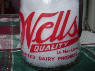 TRPQ Wells BLUE BUNNY LeMars Le Mars IOWA Ia. pyro quart dairy milk