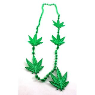 Weed Leaf Marijuana Leaf Party Beads