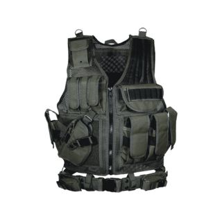 UTG 547 Law Enforcement Tactical Vest LH Black PVC V547BL