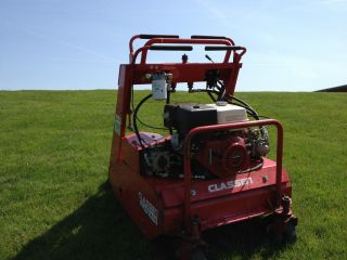on Stand on Zero Turn Commercial Core Lawn Aerator Stand Aer
