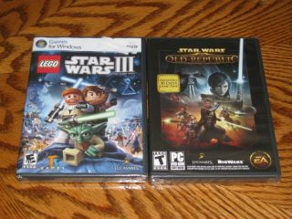 Lego Star Wars III The Clone Wars Star Wars The Old Republic Lot of 2