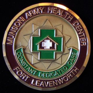Munson Army Health Center ft Leavenworth Challenge Coin