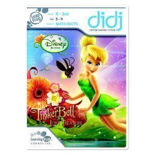 Leapfrog Didj Game Disney Fairies Tinker Bell and Friends MATH FACTS