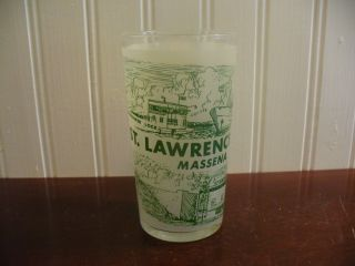 St Lawrence Seaway Massena N Y Souvenir Glass