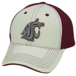 NCAA Washington State Cougars WSU White Red Hat Cap