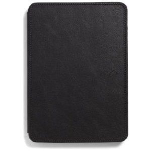 Kindle Leather Cover Black Leather Case for Kindle Touch   Protective