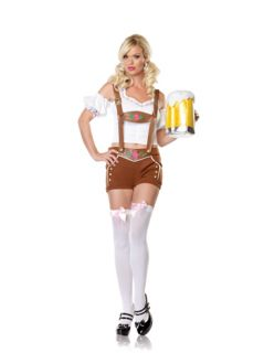 Sexy Lederhosen Girl Outfit Costume Halloween Party M L