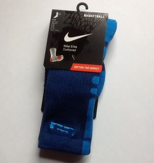 Nike Lebron James Elite Socks Small 4 6 Youth 3Y 5Y Blue