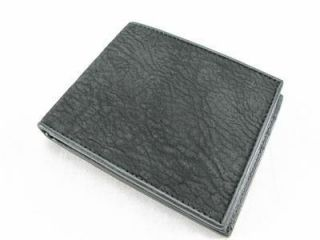 Genuine Black Shark Skin Leather Mens Bifold Wallet