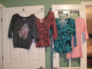 Large Lot of Womens Clothing Tops Pants Jackets and Skirt 30 Items