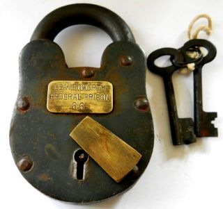 Leavenworth Kansas Federal Prison Numbered Iron Lock 1100L