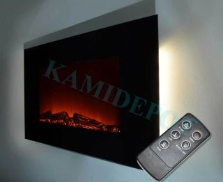 Modern Electric Fireplace Heater LED Color Remote Control