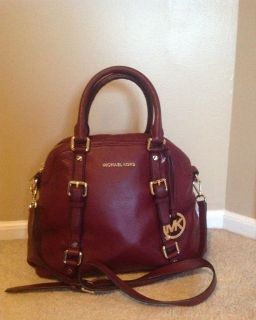 NWT MICHAEL KORS LARGE BOWLING SATCHEL BORDEAUX FAST SHIPPING