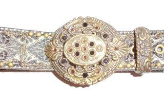 Leatherock Swarovski Crystal Stone Gold Belt Size Ml