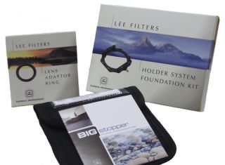 Lee Filters Big Stopper Foundation Kit Filter Holder 77mm w a Ad Ring