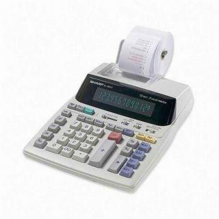 Sharp 12 Digit Desktop Printing Calculator LED 2 Color Print