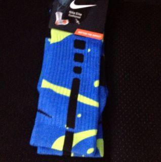 New Nike Elite Lebron Sprite Socks Mens Sz L 8 12 custom galaxy south