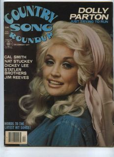 Roundup December 1977 Dolly Parton Cal Smith Dickey Lee MBX59