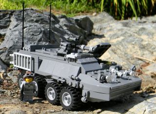 Military Gear on Custom Lego Army Stryker Tank Military Minifigure Set