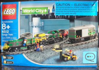 LEGO 4512 WORLD CITY CARGO TRAIN SET 9 VOLT TRACK BRAND NEW SEALED BOX