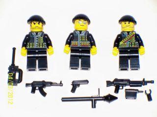 Lego 3 Custom Minifig WW2 USMC Army Builder Set