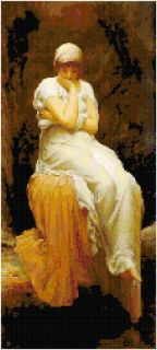 Lord Leighton Solitude Counted Cross Stitch Pattern Art