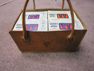 Leather Shotgun Shell Holder Range Case Handmade Carrying Case Custom