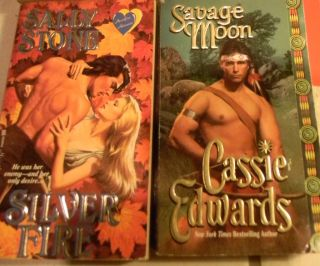 Five Romance Paperback Books Including Zebra Avon Leisure Hunky Covers