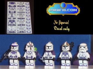 Custom Lego Star Wars Purple Clone Trooper Decals x 5 056A