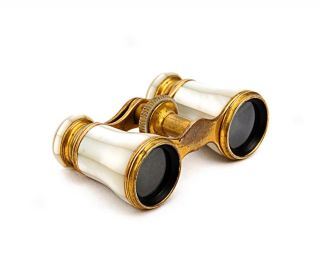 Vintage Lemaire Fab T Paris Mother of Pearl Opera Glasses / Binoculars