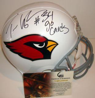 Tim Hightower Matt Leinart Signed Auto Arizona Cardinals Full Size