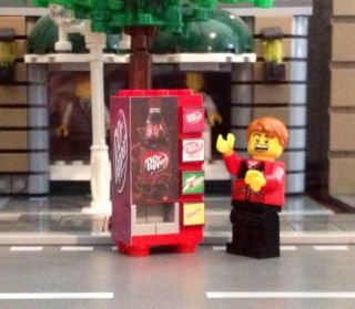 LEGO City Custom Town Train Dr Pepper Vending Machine made from LEGO R