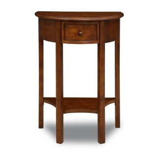 Leick Favorite Finds Demilune Console Hall Stand in Warm Brown 9030