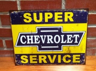 1960s Super Service Metal Sign Vintage Antique Rusty Look Barn Find