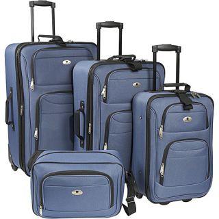 Leisure Luggage Windsor 4 Piece Exp Luggage Set