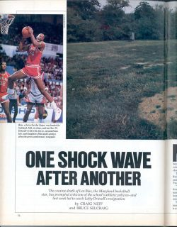 Sports Illustrated 1986 LEN BIAS Maryland Terrapins DEATH SHOCK WAVE