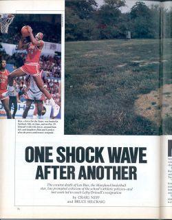 Sports Illustrated 1986 LEN BIAS Maryland Terrapins DEATH SHOCK WAVE