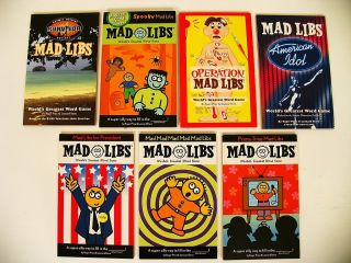 Lot 7 Mad Libs Word Game Kids Books Travel Fun Car Set for President